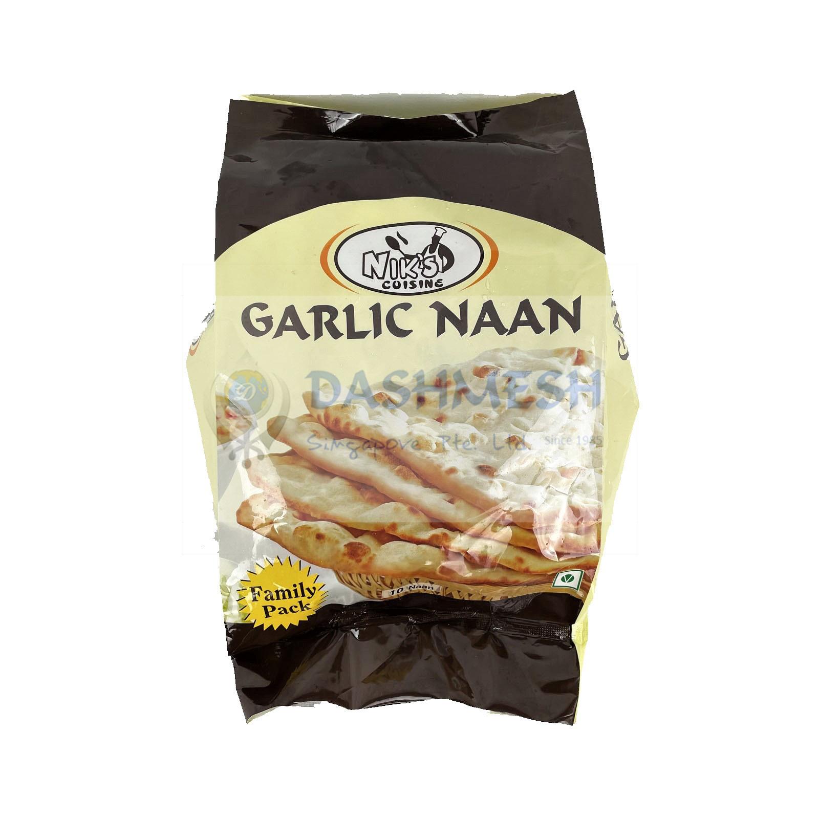 Niks Garlic Naan – 10s, 850g