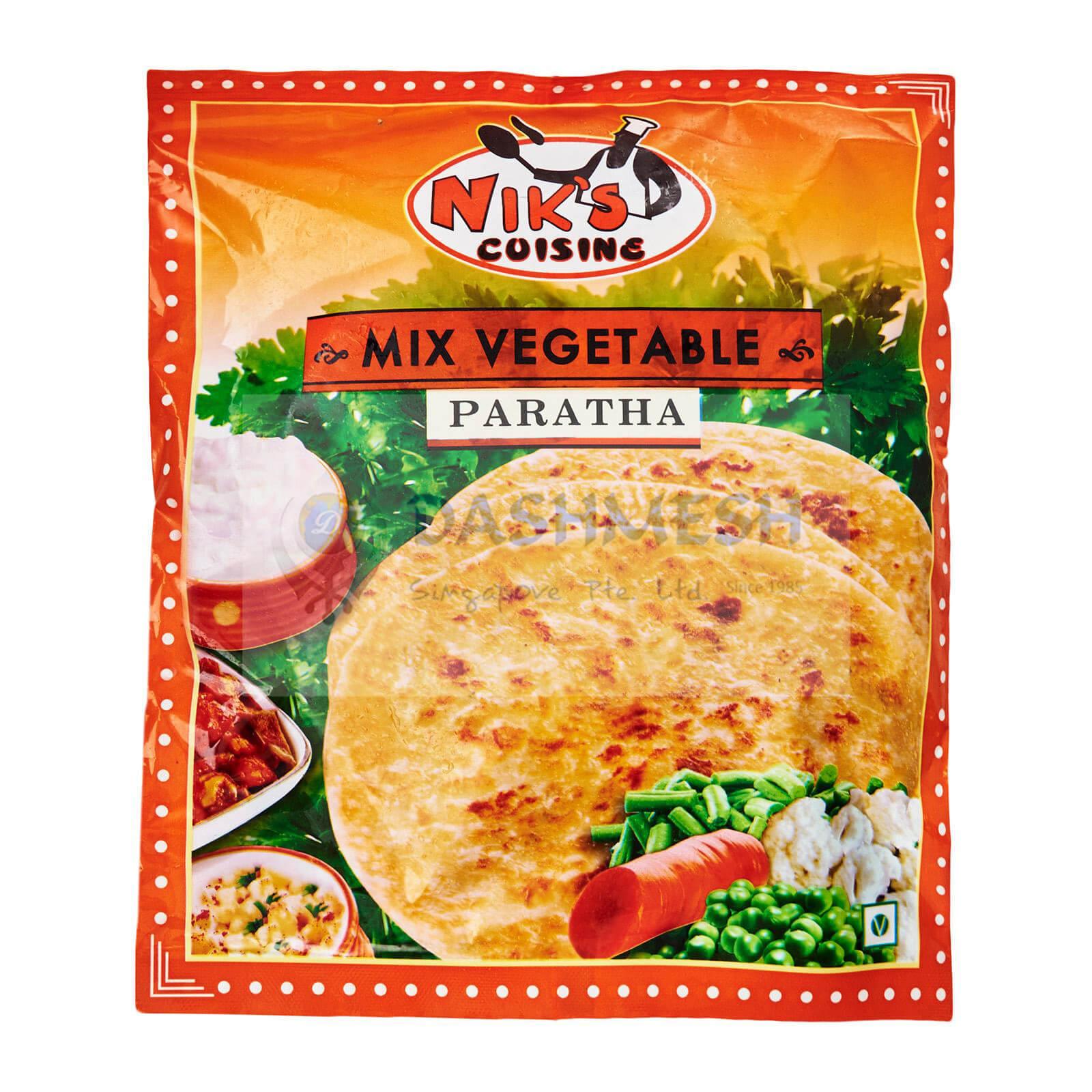 Niks Mixed Veg Paratha – 4s