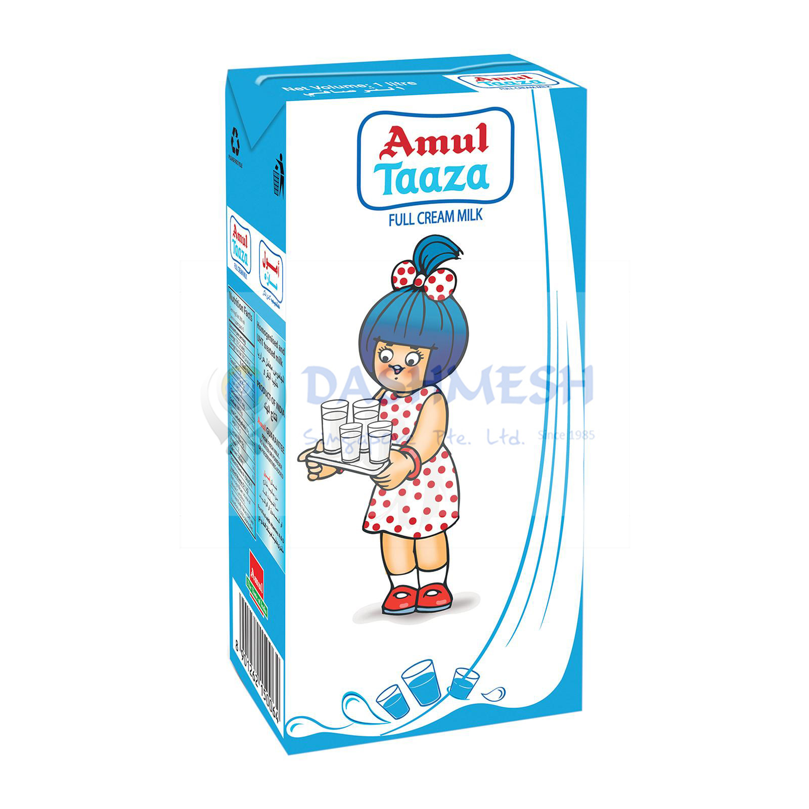 Amul Taaza UHT Full Cream Milk 1 ltr & 12 x 1 ltr (Carton)