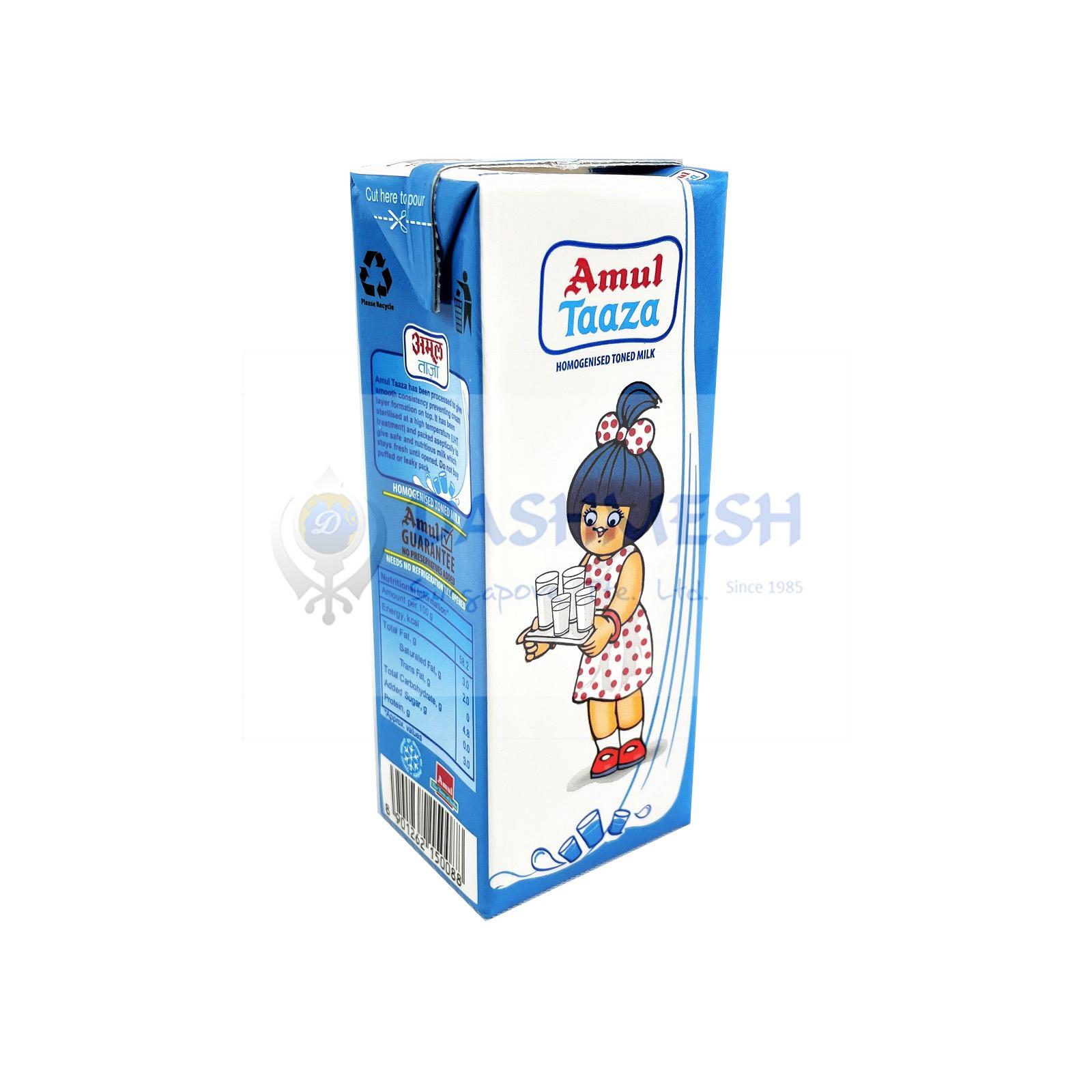 Amul Taaza UHT Milk 200ml & 30x200ml (Carton)