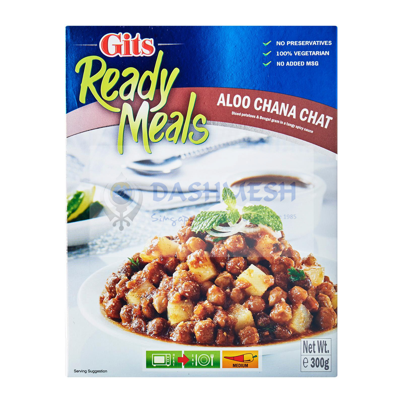 Gits Aloo Chana Chat Ready to Eat 300g