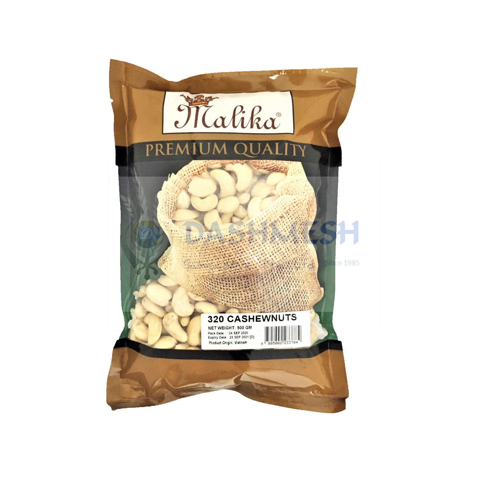 Malika 320 Whole Cashewnuts 100g, 250g, 500g & 1Kg