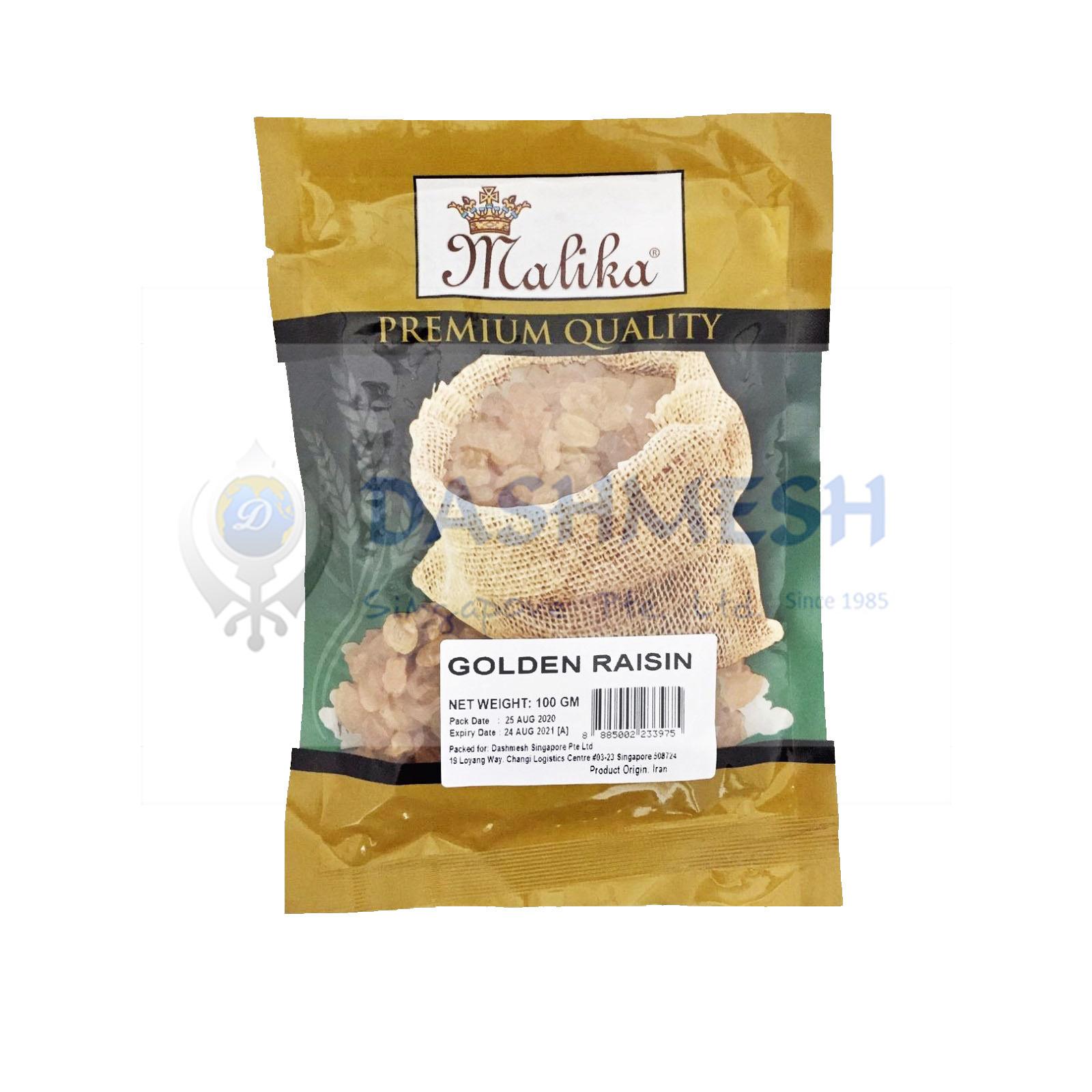 Malika Golden Raisins 100g, 250g & 500g