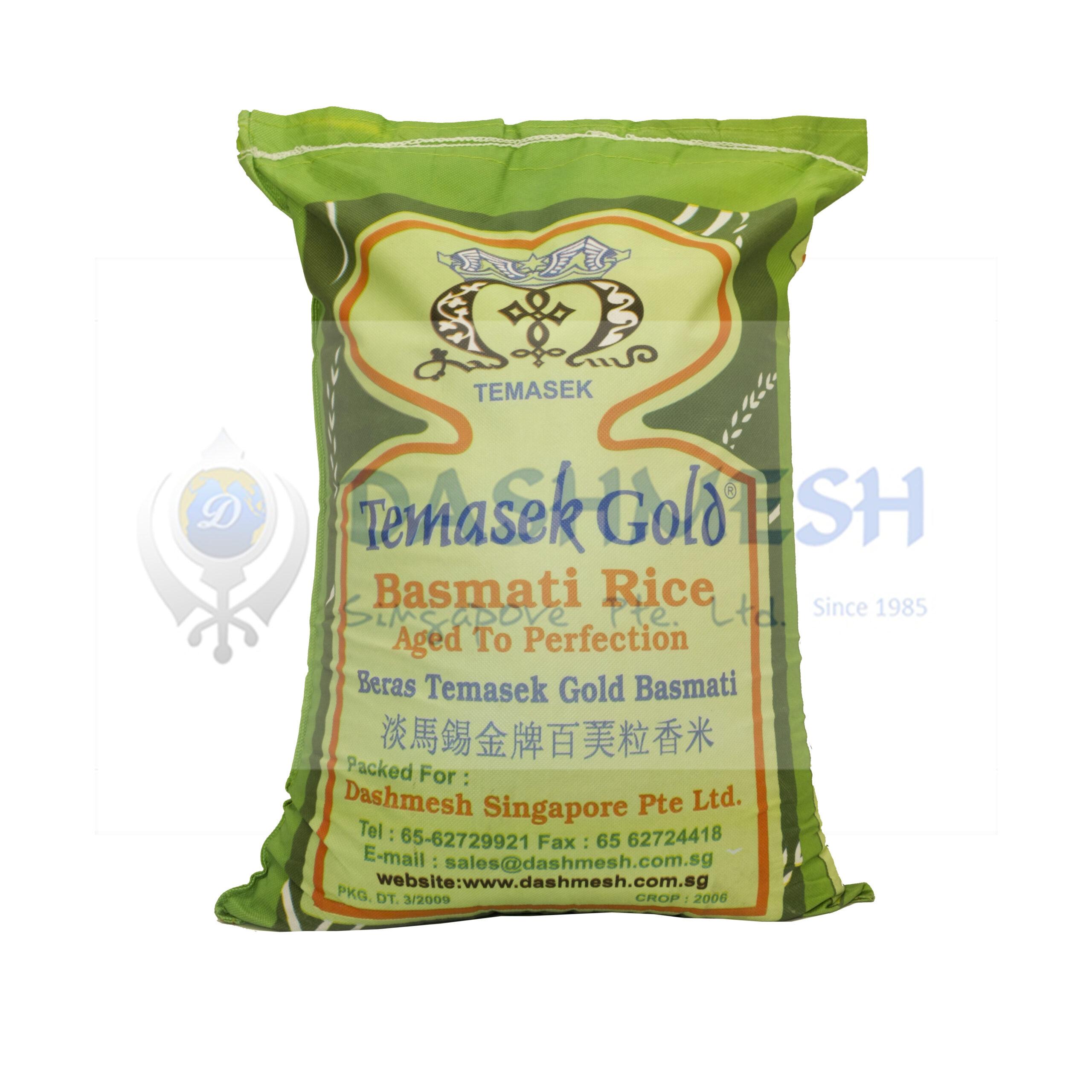 Temasek Gold Basmati Rice 25kg Bag