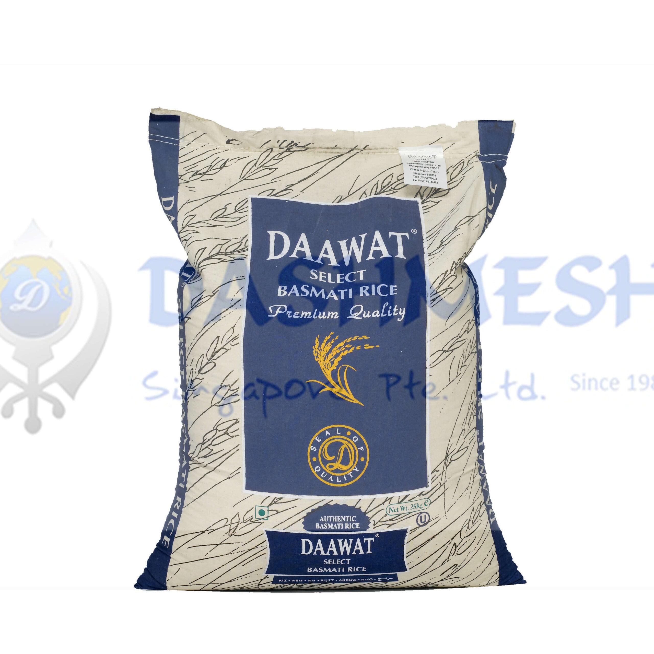 Daawat Select Basmati Rice 25Kg Bag